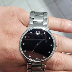 Other - Movado classic museum diamond watch
